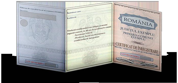 Certificat de inmatriculare pentru atelaje