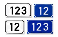 placi numere de case si numere postale