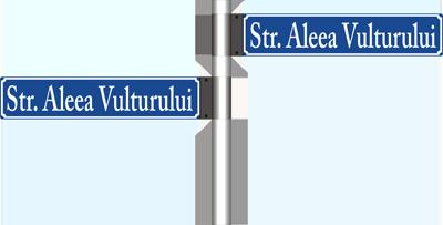 Stalp cu indicatoare stradale